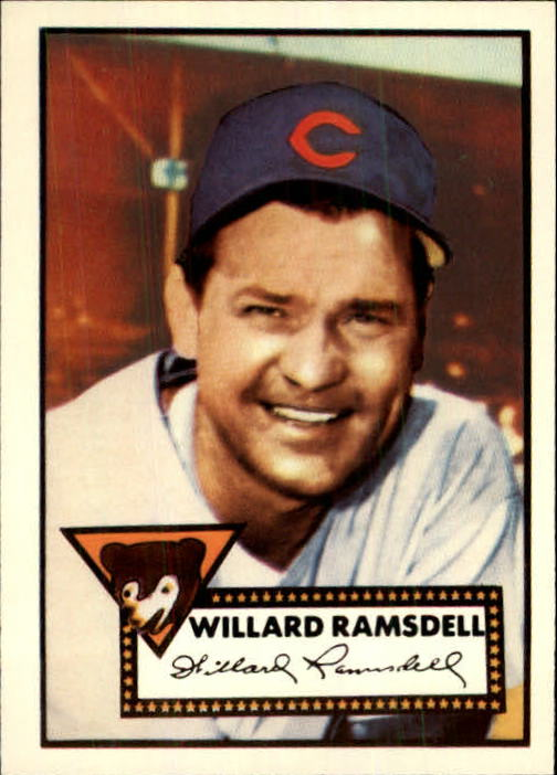 1983 Topps 1952 Reprint #114 Willard Ramsdell