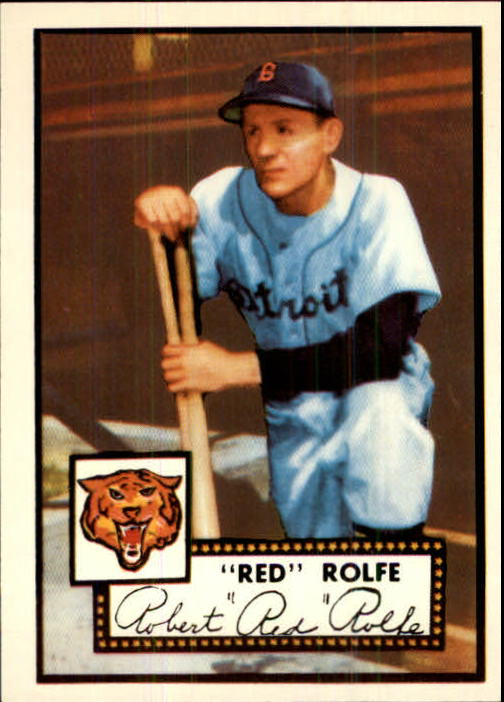 1983 Topps 1952 Reprint #296 Red Rolfe MG front image