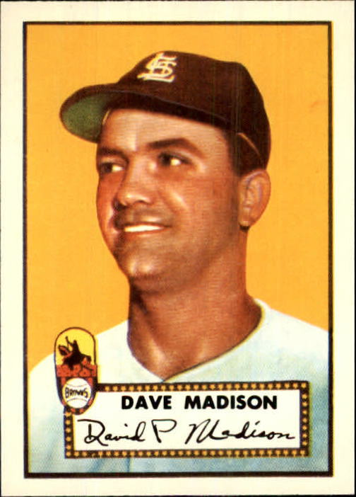 1983 Topps 1952 Reprint #366 Dave Madison front image