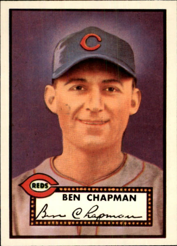 1983 Topps 1952 Reprint #391 Ben Chapman UER CO/Photo actually/Sam Chapman
