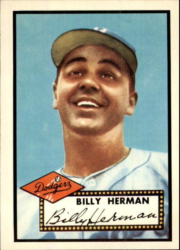 1983 Topps 1952 Reprint #394 Billy Herman CO