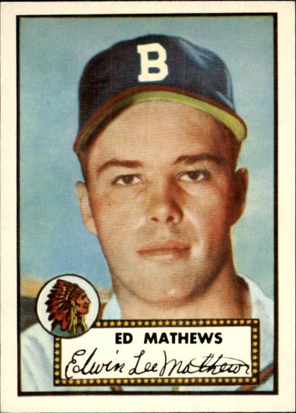 1983 Topps 1952 Reprint #407 Eddie Mathews