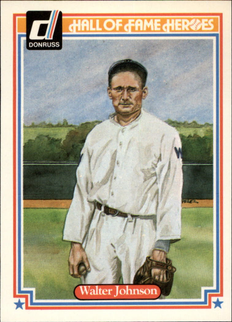 1983 Donruss HOF Heroes #2 Walter Johnson