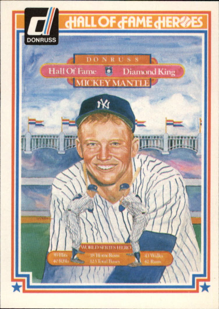 1983 Donruss HOF Heroes #43 Mantle Puzzle Card