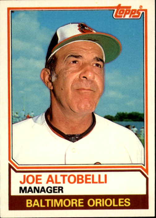 1983 Topps Traded #3T Joe Altobelli MG