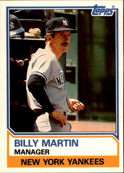1983 Topps Traded #66T Billy Martin MG front image