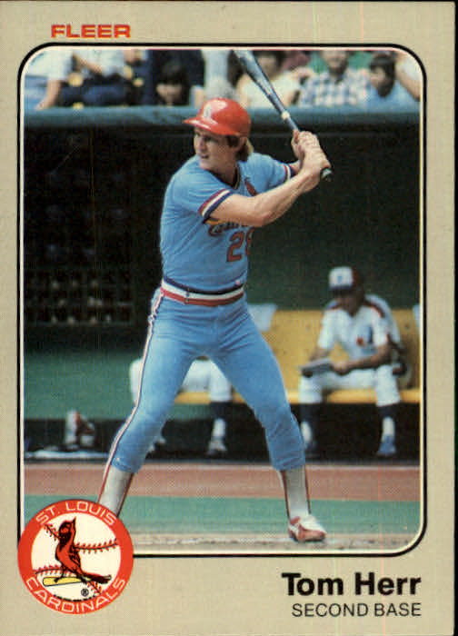 1983 Fleer #9 Tom Herr