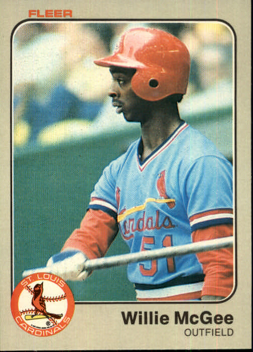 1983 Fleer #15 Willie McGee RC