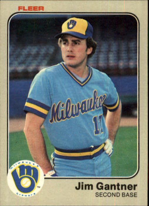1983 Fleer #34 Jim Gantner