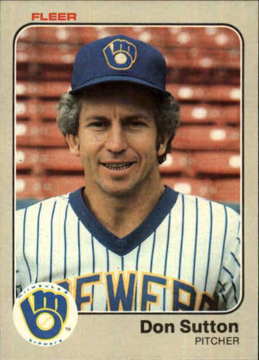 1983 Fleer #47 Don Sutton