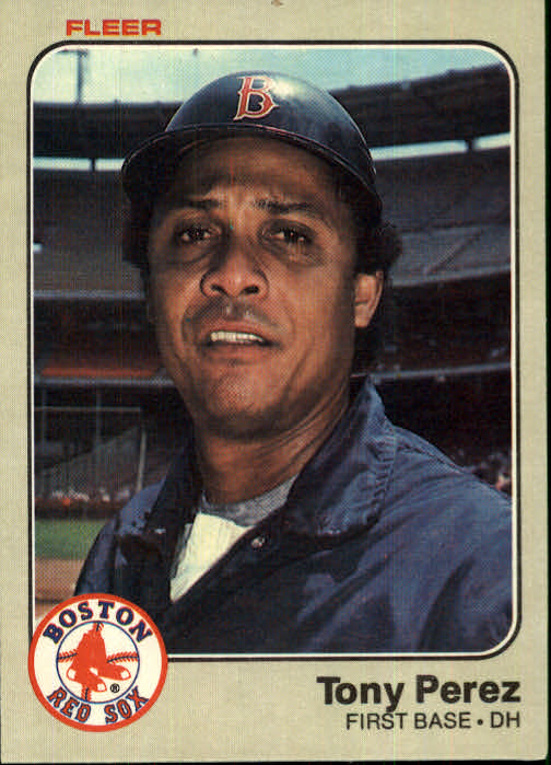 1983 Fleer #191 Tony Perez