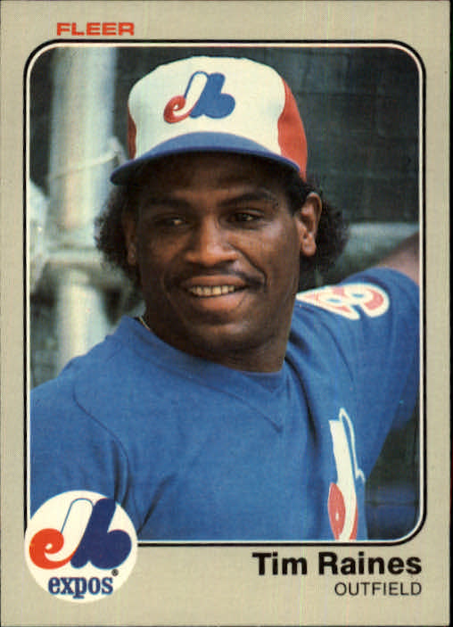 1983 Fleer #292 Tim Raines