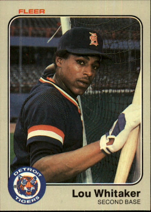 1983 Fleer #348 Lou Whitaker