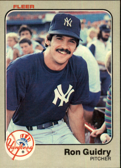 1983 Fleer #383 Ron Guidry