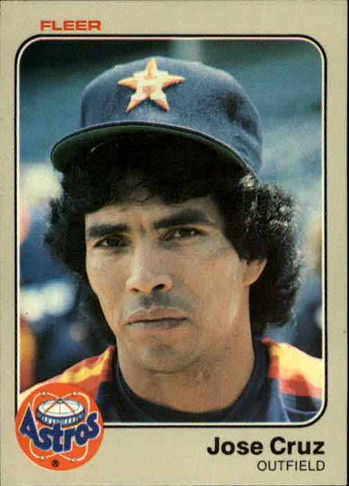 1983 Fleer #446 Jose Cruz