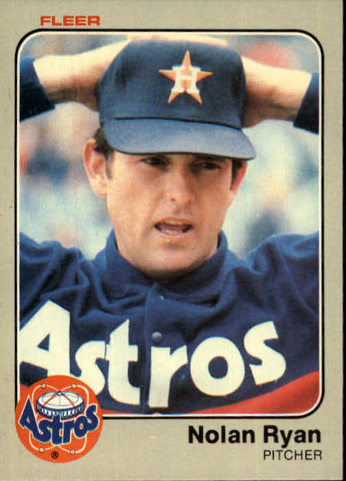 1983 Fleer #463 Nolan Ryan