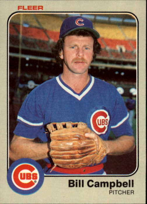 1983 Fleer #493 Bill Campbell