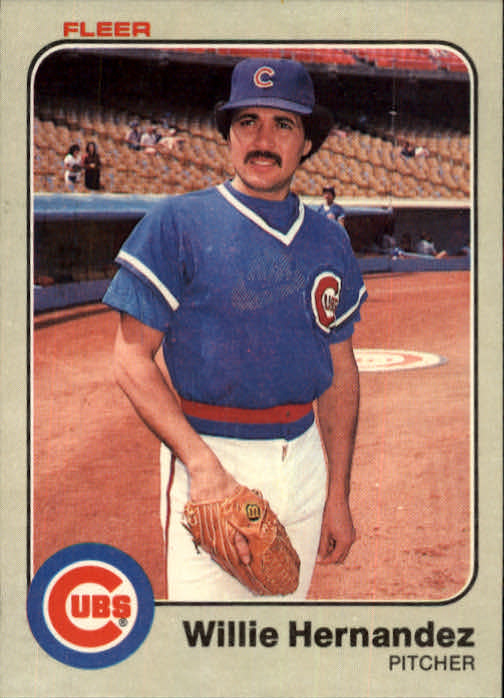 1983 Fleer #497 Willie Hernandez
