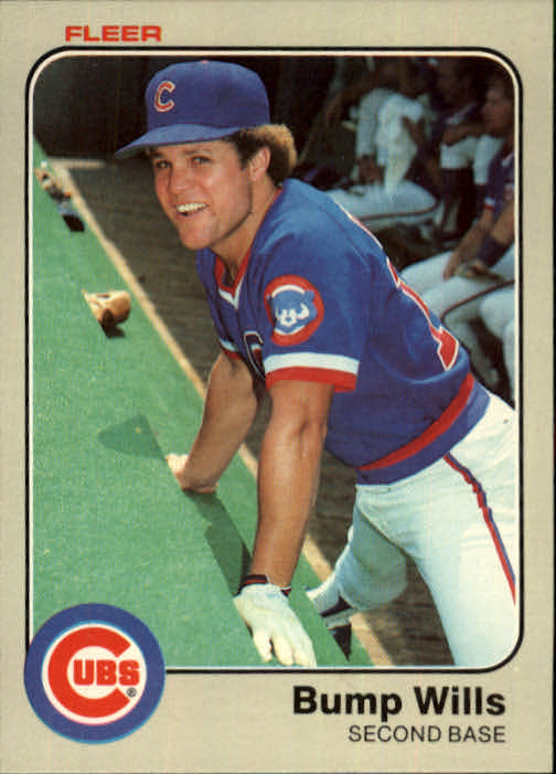 1983 Fleer #511 Bump Wills