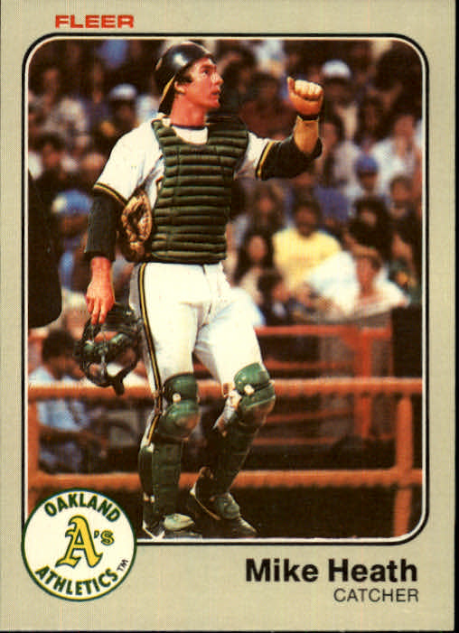 1983 Fleer #518 Mike Heath