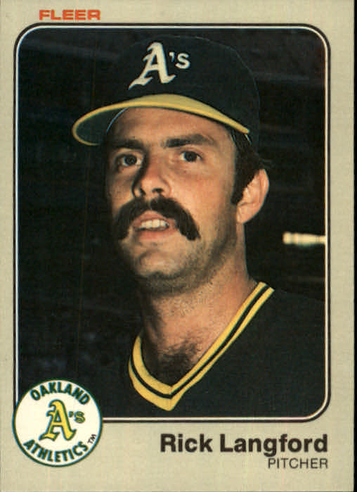 1983 Fleer #523 Rick Langford