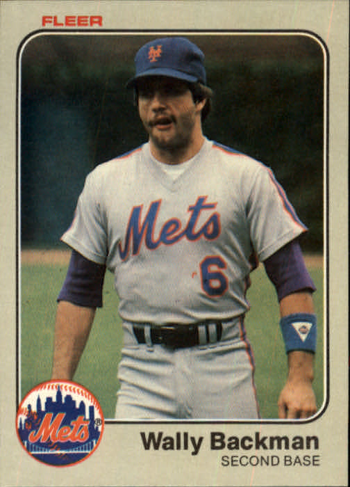 1983 Fleer #537 Wally Backman