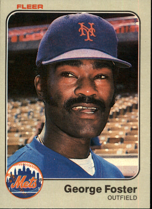 1983 Fleer #542 George Foster