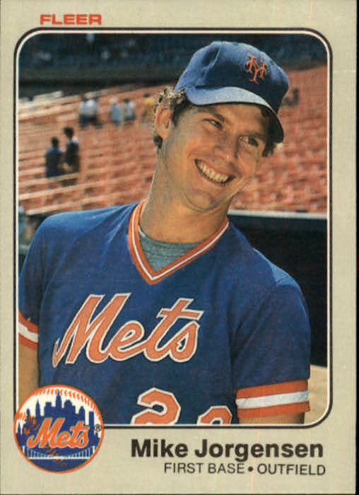 1983 Fleer #547 Mike Jorgensen