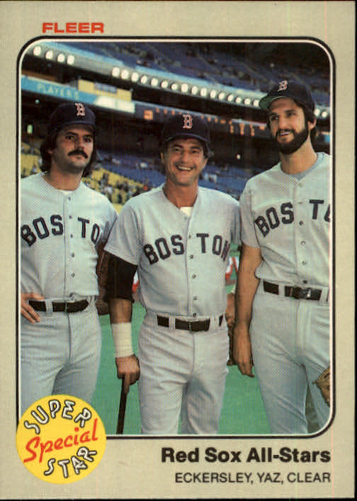1983 Fleer #629 Carl Yastrzemski/Dennis Eckersley/Mark Clear