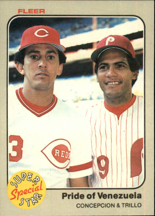 1983 Fleer #631 D.Concepcion/M.Trillo