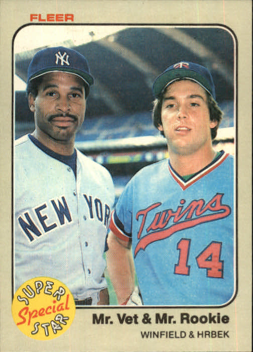 1983 Fleer #633 D.Winfield/K.Hrbek