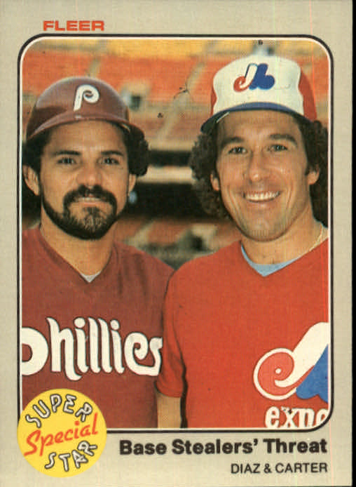 1983 Fleer #637 B.Diaz/G.Carter