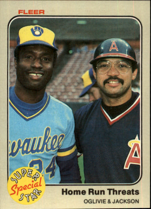 1983 Fleer #640 Ben Oglivie/Reggie Jackson