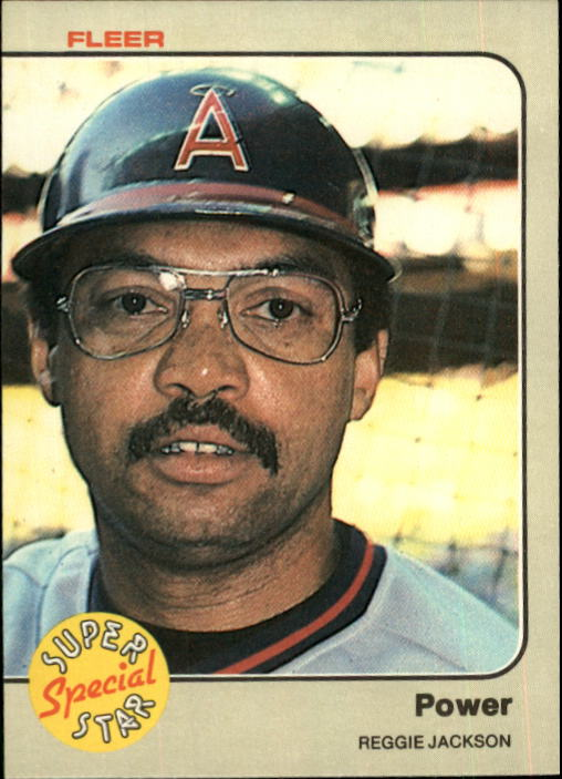 1983 Fleer #645 Reggie Jackson Power front image