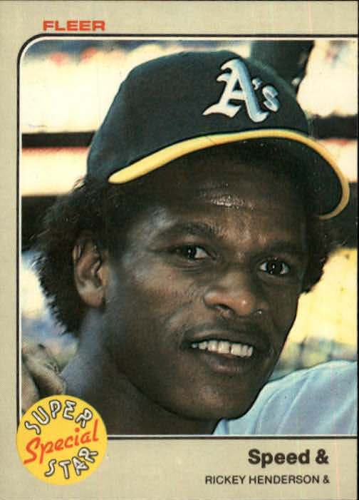 1983 Fleer #646 Rickey Henderson Speed