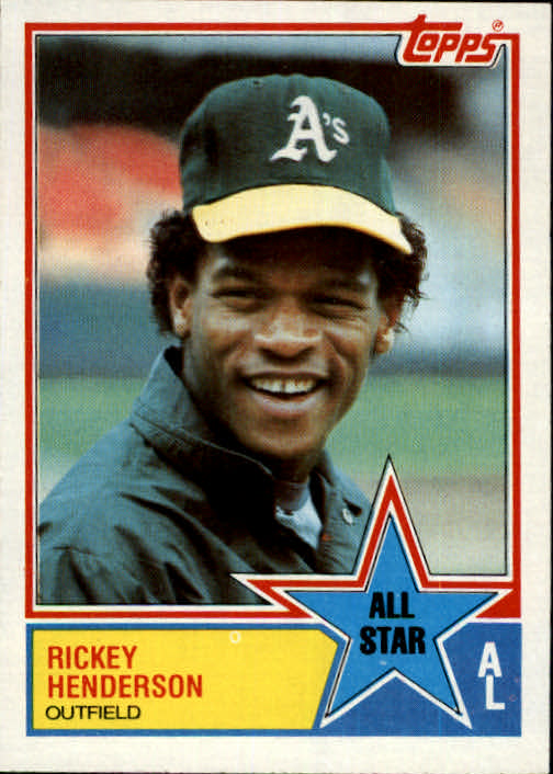 1983 Topps #391 Rickey Henderson AS