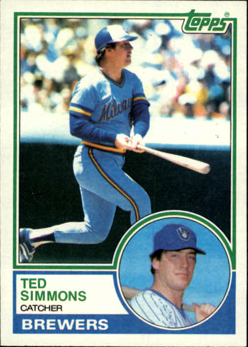 1983 Topps #450 Ted Simmons