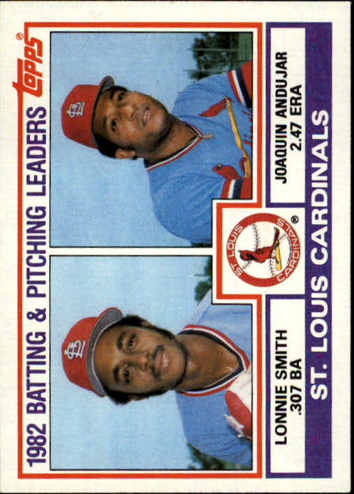 1983 Topps #561 Cardinals TL/BA: Lonnie Smith/ERA: Joaquin Anduj