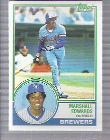 1983 Topps #582 Marshall Edwards