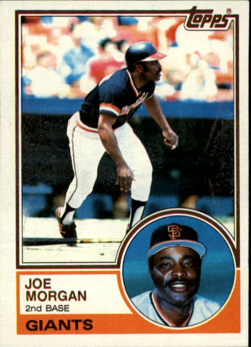 1983 Topps #603 Joe Morgan front image