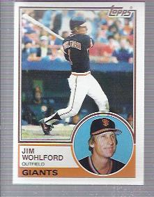 1983 Topps #688 Jim Wohlford