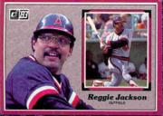 1983 Donruss Action All-Stars #3A Reggie Jackson ERR/(Red screen on back/covers so