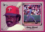 1983 Donruss Action All-Stars #18 Gary Ward