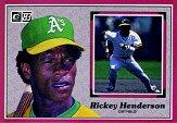 1983 Donruss Action All-Stars #22 Rickey Henderson