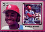 1983 Donruss Action All-Stars #34 Lonnie Smith