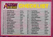 1983 Donruss Action All-Stars #60 Checklist Card