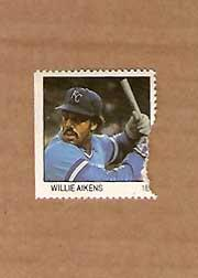 1983 Fleer Stamps #1 Willie Aikens