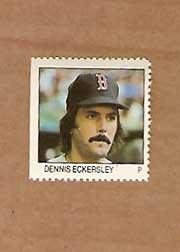 1983 Fleer Stamps #58 Dennis Eckersley
