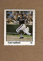 1983 Fleer Stamps #76 Toby Harrah