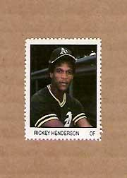 1983 Fleer Stamps #77 Rickey Henderson